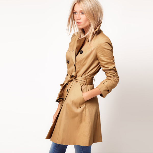 Hot Classic Women Fashion British Long Style Elegant Trench Coat/Designer Belted Double Breasted Trench/Outerwear Y0310-139D