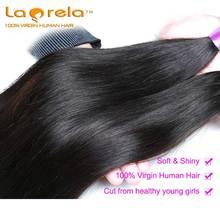 Laprela 100% Unprocessed Virgin Human Hair 3 Bundle Deals Human Hair Extensions 6A Grade Peruvian Straight Virgin Hair