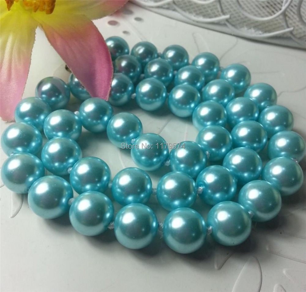 "Discount!! DIYLovely 8mm multicolor south sea shell pearl necklace 18"" AAA+ beads jewelry making AA++ about52pcs/strands YS0369(China (Mainland))"