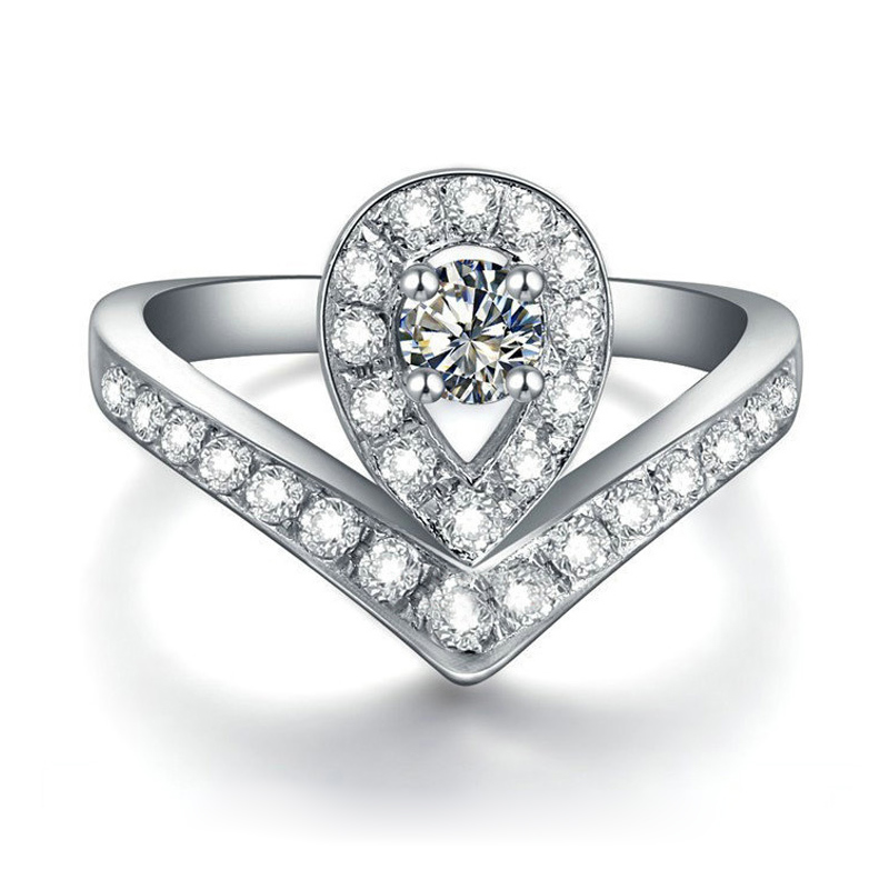 line Get Cheap Pear Shaped Diamond Engagement Rings Aliexpress