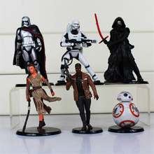 Star Wars The Force Awakens Figures Toy 8Pcs/Set Kylo Ren Phasma Stormtrooper Star Wars PVC Action Figures DIY Educational Toys