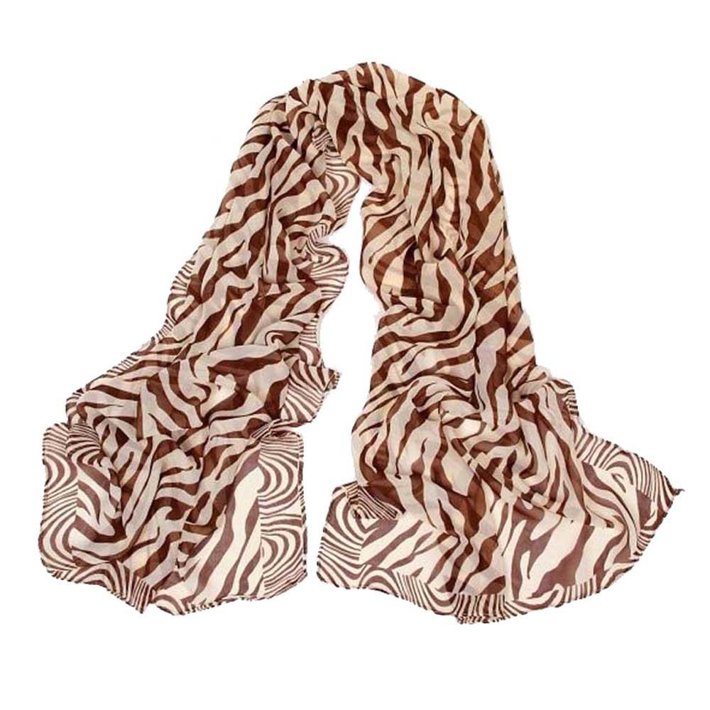 2016 Winter Long scarf Women's Outdoor Shawl Scarf Fashion Lady Zebra Stripe Print Chiffon Scarf Promotion(China (Mainland))