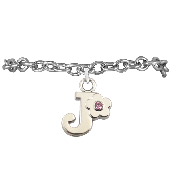 Aliexpress letter j charm bracelet for girls in charm for Letter j bracelet
