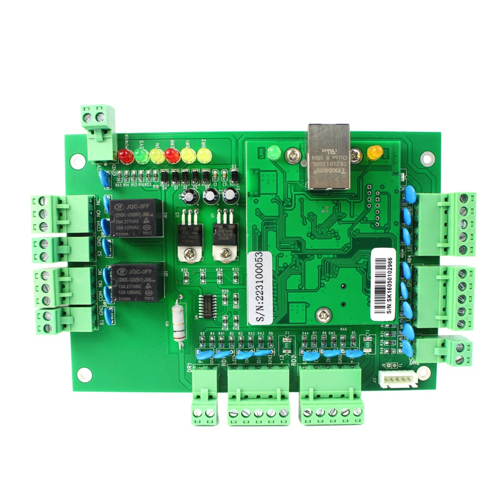Generic Wiegand TCP/IP Network Entry Access Control Board Panel Controller for 2 Door 4 Reader F1647G(China (Mainland))