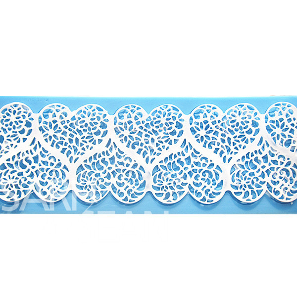 L094 heart love lace instant lace mold cake mold silicone baking tools kitchen accessories decorations for cakes Fondant(China (Mainland))