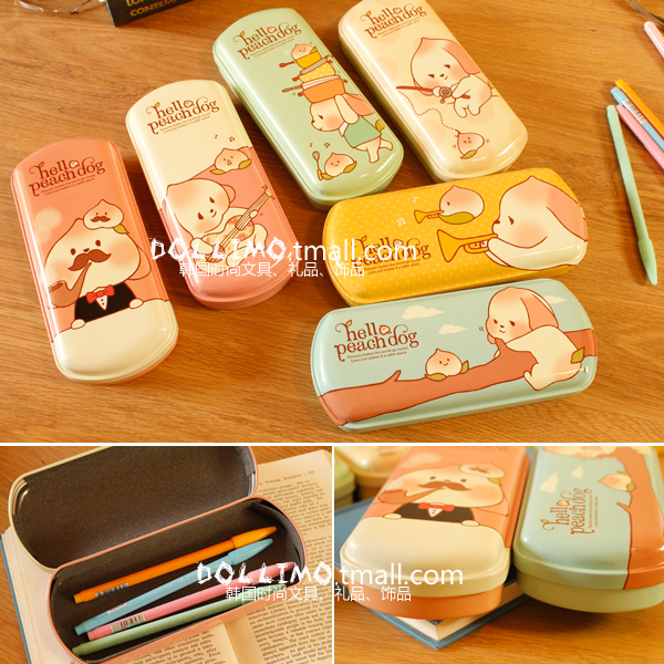 Do stationery peach small animal fat stationery box broadened pencil case