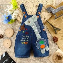 2016 new arrival infant jeans pant baby cartoon denim short pant many designs(China (Mainland))