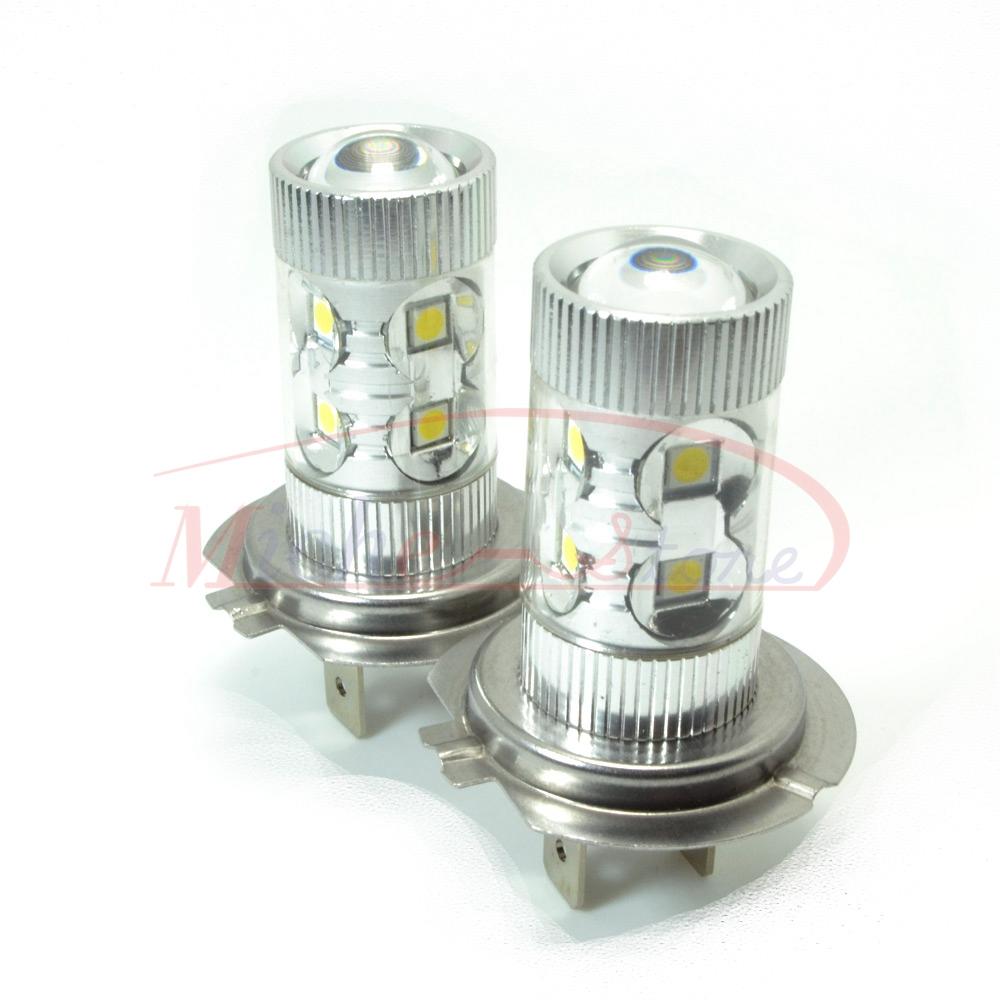H7 High Power 50W Fog Light Headlight Driving Daytime Running 6000K Samsung LED Chip Lamp Xenon White DC 12V-24V - Miche-Store store