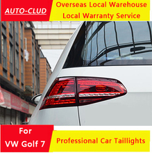 Auto-Clud for volkswagen golf 7 LED taillights 2014-15 for vw golf mk7 led rearlights LED brake+reverse+turn light car styling(China (Mainland))