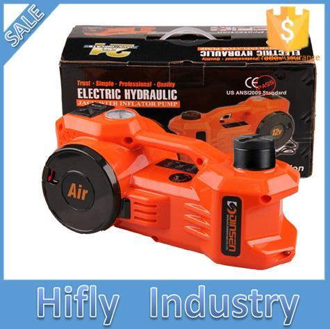 HF-EJ450 3TON 12V auto electric jack wtih air inflation dual-function car air compressor Electric hydraulic Bottle Floor jack(China (Mainland))
