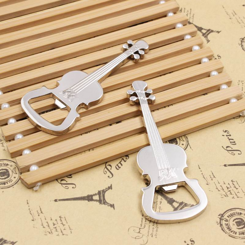 Free shipping,50 PCS New Arrival Guitar Bottle Openers Metal Brand New High quality Beer Opener(China (Mainland))