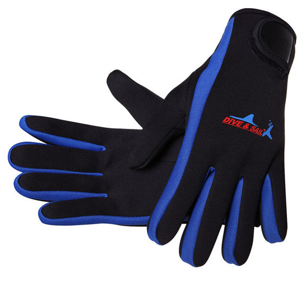 Scuba Diving Gloves Blue Ocean