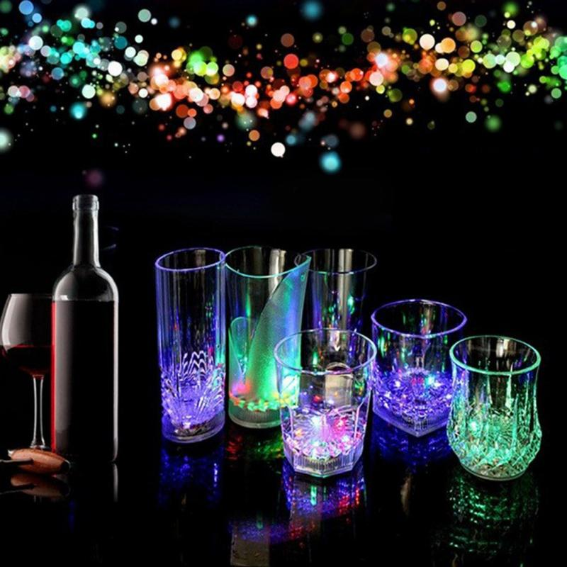 Flashing LED Light Cup Glass Colorful Drink Mug Barware Party Wedding Decoration Clubs Christmas Halloween Holiday(China (Mainland))