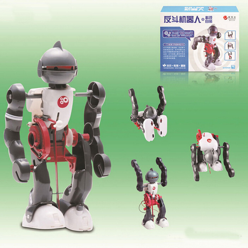 charging Engine robot Kit fueled DIY space robot toy,Bine Power Robot Blocks Science Model kit Educational Toys for children(China (Mainland))