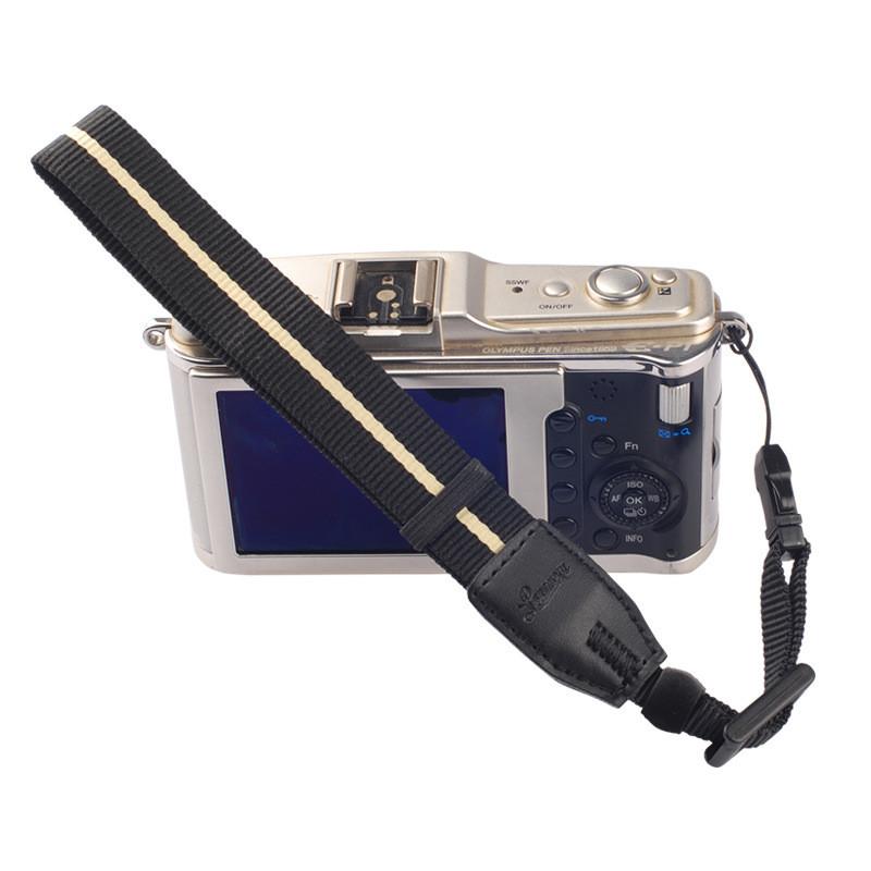 Nylon Combined PU Leather Camera Wrist Lanyard Hand Strap for all Micro Camera DSLR SLR S255(China (Mainland))