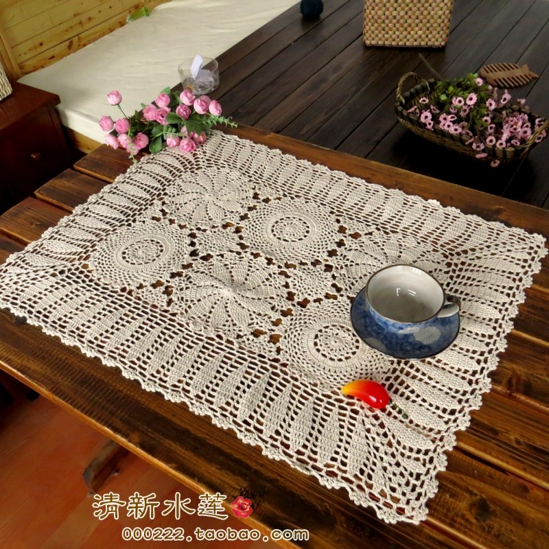 Fashion USA design ZAKKA crochet table cloth fashion vintage lace knitted tab...