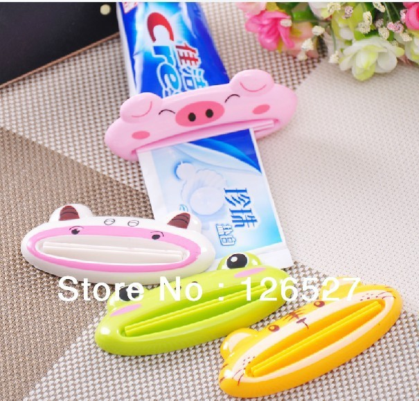 FREE SHIPPING/Bathroom Dispenser Toothpaste Squeezer,Practical small multi-function tool Lovely animal model