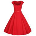 Womens Summer Dress 2016 Vintage V-Neck Cap Sleeve 1950s Hepburn Style Pin up Rockabilly Party Black Lace A-Line Dresses
