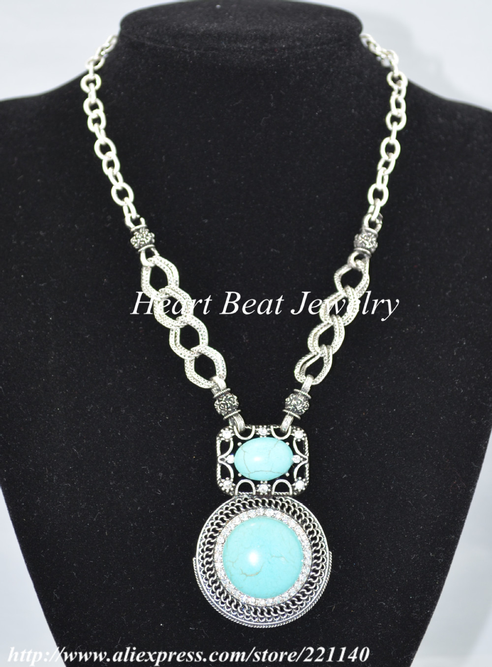 ,, Hot sale, Steady, Turquoise Necklace - HeartBeat Online shop store