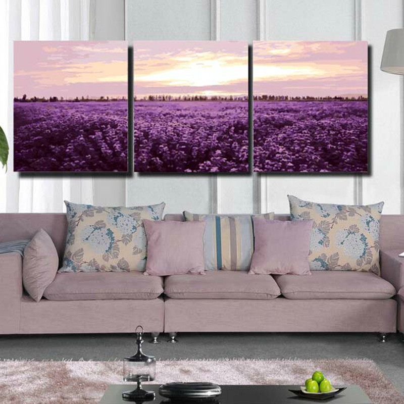 40x50cmxFrameless Pictures Painting Numbers DIY Digital Oil Lavender Canvas Home Decoration HD0467 - (mix order$15 storeSunshine Store)