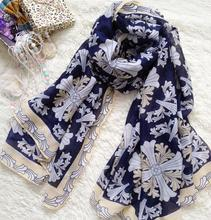 2016 Spring/summer New Design Scarf print flower floral Shawls Nice Hijab Charmful Fashion Hot Sale JYW042(China (Mainland))