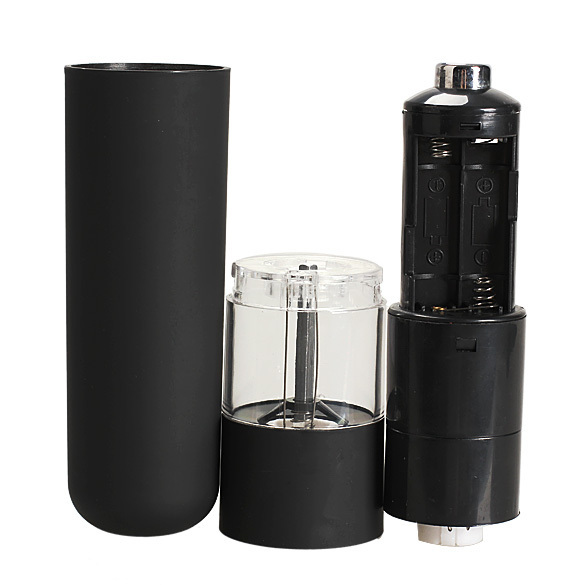 Гаджет  Free Shipping Kitchen Tools Electric Salt Spice Pepper Herb Mills Grinder with LED Light Black CS#8 None Дом и Сад