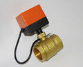 DN40 G1 5 AC220V electric actuator brass ball valve motorized motor driven ball Valve switch type
