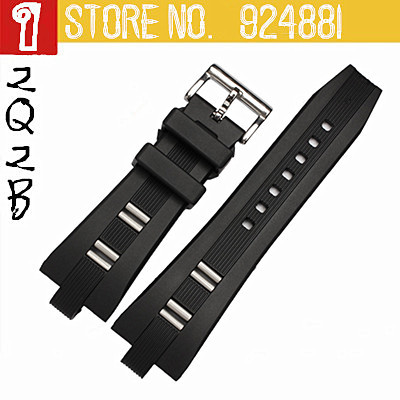 26x9mm for DP45BSTVDCHGMT,Silicone Watch Straps for Hours,Waterproof Inport Rubber Watch Bands,Black Pin Buckle,Free Shipping<br><br>Aliexpress