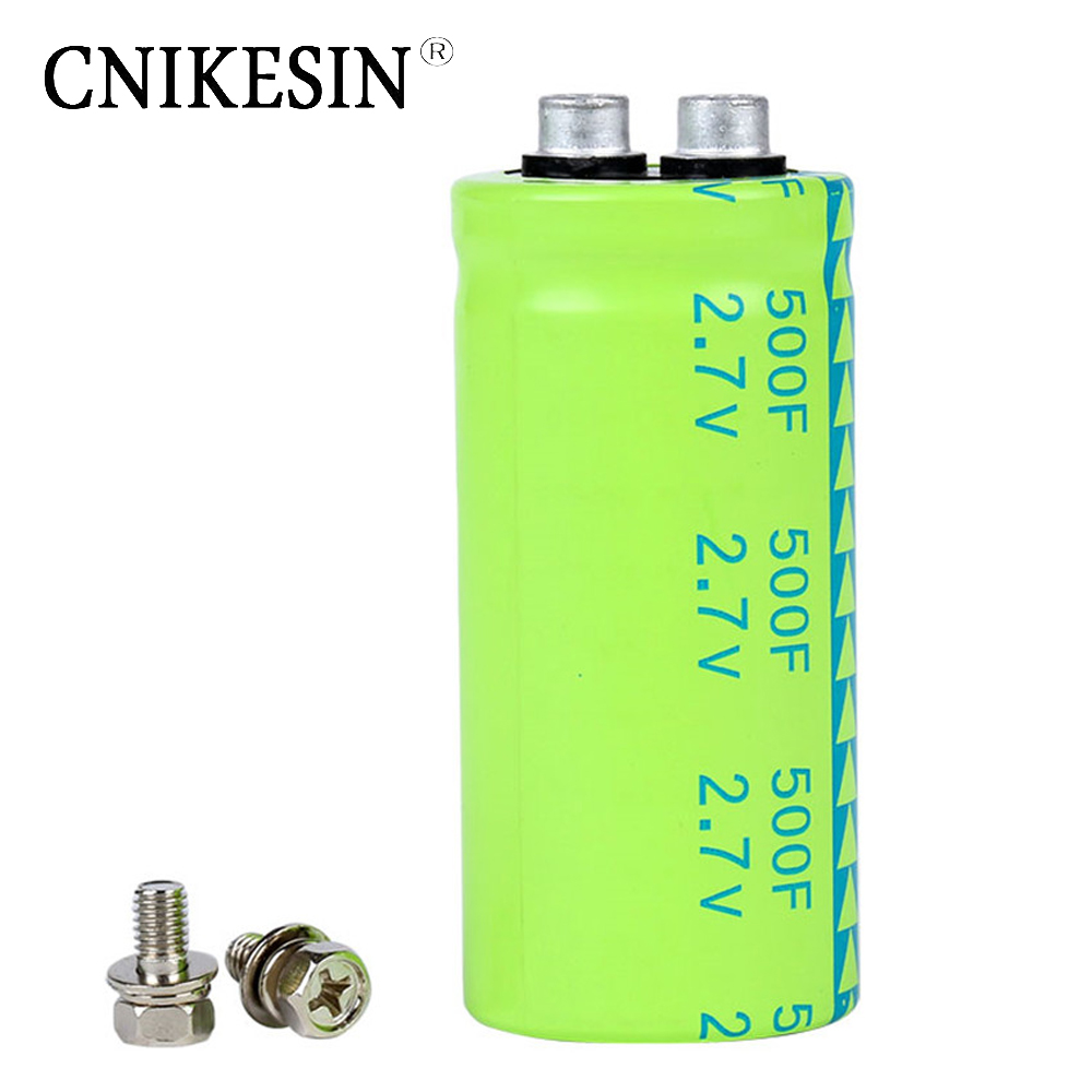 CNIKESIN Super capacitor Fala capacitor 2.7V 500F screw type super large capacity and ultra low resistance NEW(China (Mainland))
