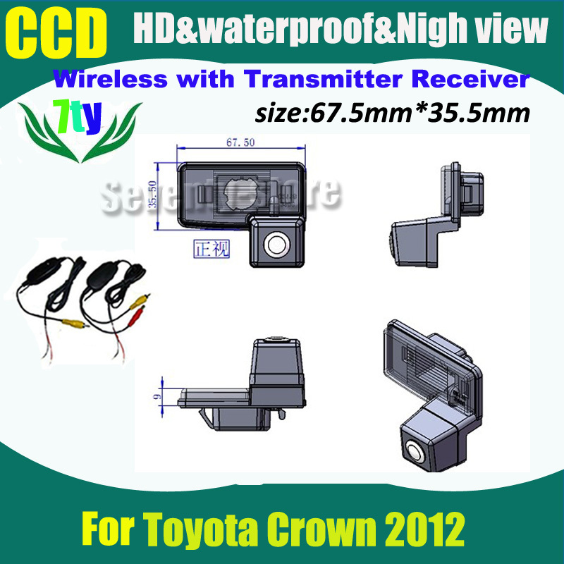 Wireless CCD car parking rear view camera for Toyota Crown 2012 backup rearview camera(China (Mainland))