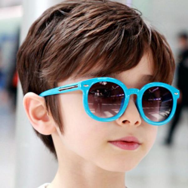 Новый дети мужская малышей круглые очки конфеты цветные стекла очки очки LH6s