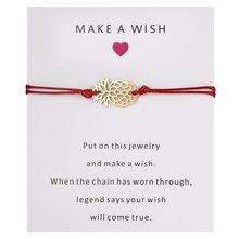Rinhoo 11*9 cm faire un souhait carte papier ananas pendentif corde chaîne Bracelet pour bijoux de petite amie cadeau bijoux de mode(China)