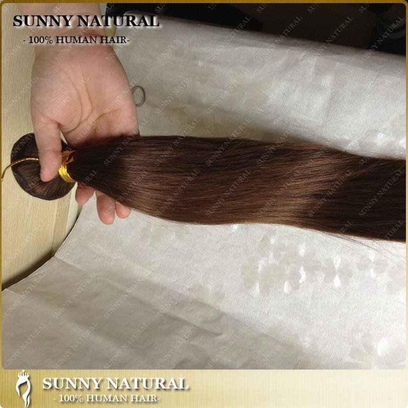 Malaysian virgin human hair Silky Straight hair weave bundles 100g/pc many colors available human hair extensions(China (Mainland))