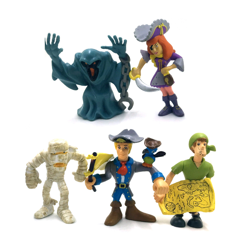 5pcs Scooby Doo the Mystery Action figures Fred Toys Cartoon Gifts for Kids Children Baby Doll(China (Mainland))