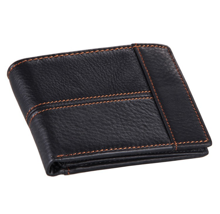 [COWATHER]100% top quality cow genuine leather men wallets, fashion splice purse dollar price,carteira masculina free shipping