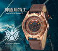 NEW Vilam Luxury Watch Marvel Agents of shield Genuine Leather Men s Fashion Casual Watch Cool