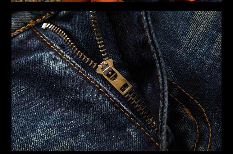 2016 men's new hole retro jeans worn bordado denim trousers fashion men straight  stitching multi hole  the wind wash pants