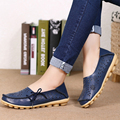 2016 New Summer Style Women Ballet Flats Round Toe Slip on Shoes Cut-outs Flats Shoes White Sandals Woman Loafers Zapatos Mujer