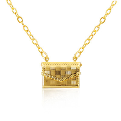 Hot fashion necklaces pendants jewelry 18K Real Gold Plated necklace woman handbag personality XH064(China (Mainland))
