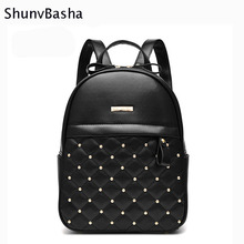 Buy 2017 ShunvBasha Backpack Women Backpack High Women Backpacks Fashion Lady Leather Backpack School Teenage Girls 39 T for $23.89 in AliExpress store