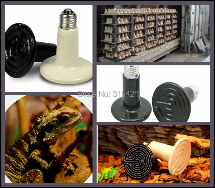 1Pcs/lot 200W Pet Ceramic Emitter Heated Appliances Reptile Heat Breeding Lights Lamp Bulb for E27 Lamp Holder P404(China (Mainland))