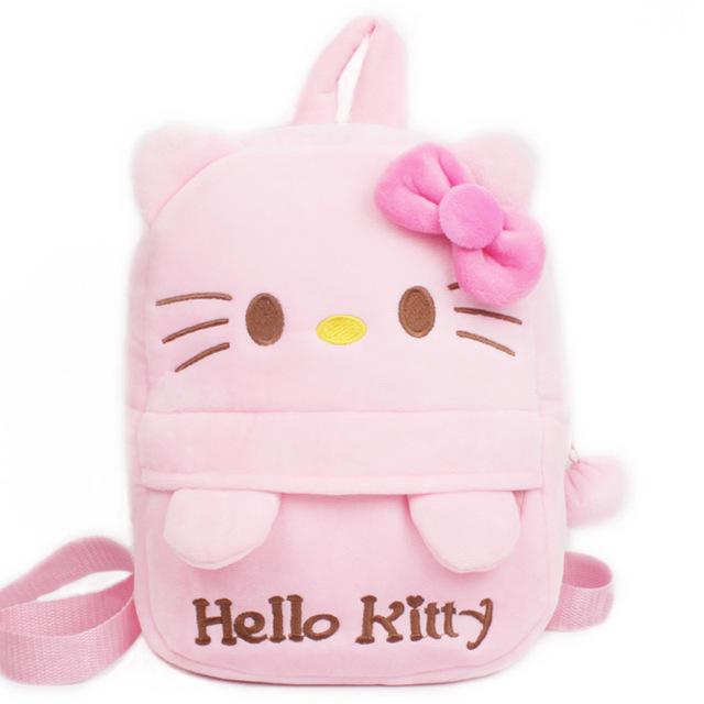 Новое поступление привет котенок плюшевые мультфильм рюкзак девушка характер мешок подарок для детей в возрасте 1 - 3 Mochila Infantil горячая распродажа