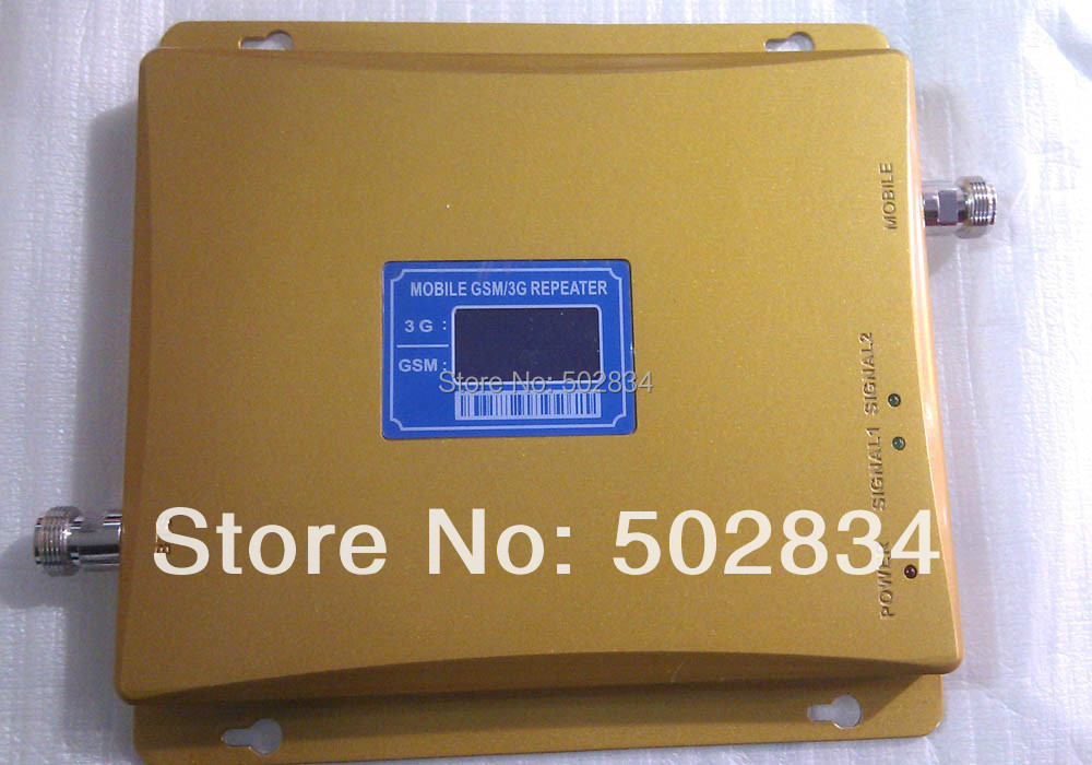 2016 New Dual Band 65dBi 3G GSM Mobile Phone Signal Repeater GSM 3G Booster Amplifier Extender