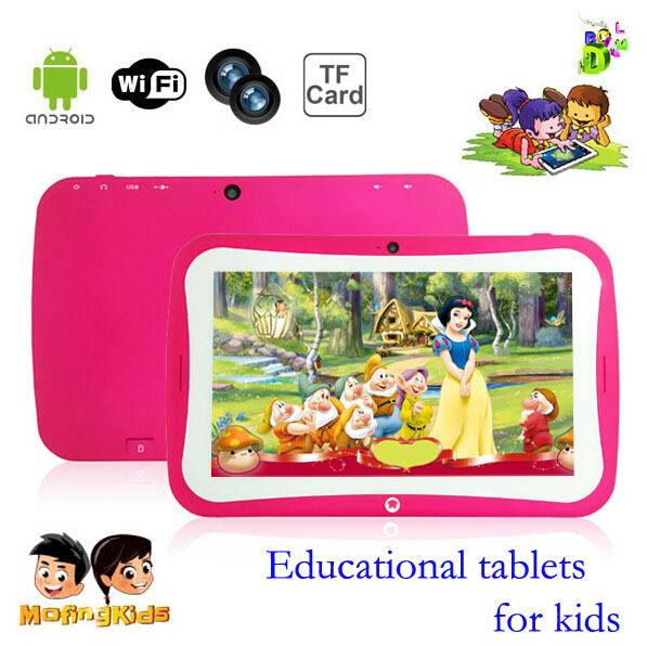7 inch kids tablet pc Android4.4 Quad Core 1G+8GB IPS screen 1024x768 Built-learning Software Kids Education Tablet PC for kids(China (Mainland))