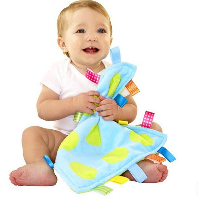 2016 Детские Полотенца красочным игрушки 30*30 см большой Ребенок успокоить полотенце ...