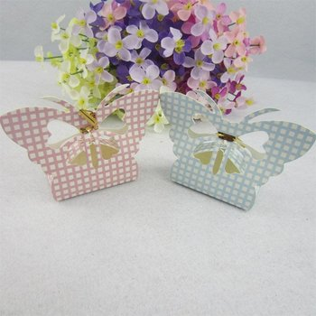 On sale!!! 300PCS Beautiful Butterfly Cute Small Candy Boxes, Wedding Favor Boxes, Gift Boxes