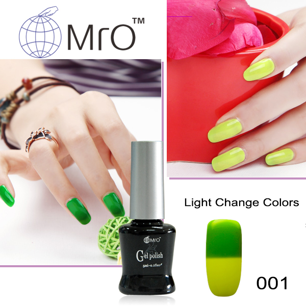 MRO 2 pieces Light changeable gel polish changes color soak off gel lucky uv gel nail polish uv lacquers vernis a ongle