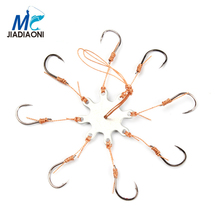 JIADIAONI 8pcs/lot 2 Octopussy Trolling Sea Fishing Hooks Barbed Hook Stainless Steel Circle FishHook Fishing Accessories
