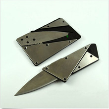 New 1PC credit card knife with steel handle folding safety knife outdoor camping survival pocket wallet tool S171-Q(China (Mainland))