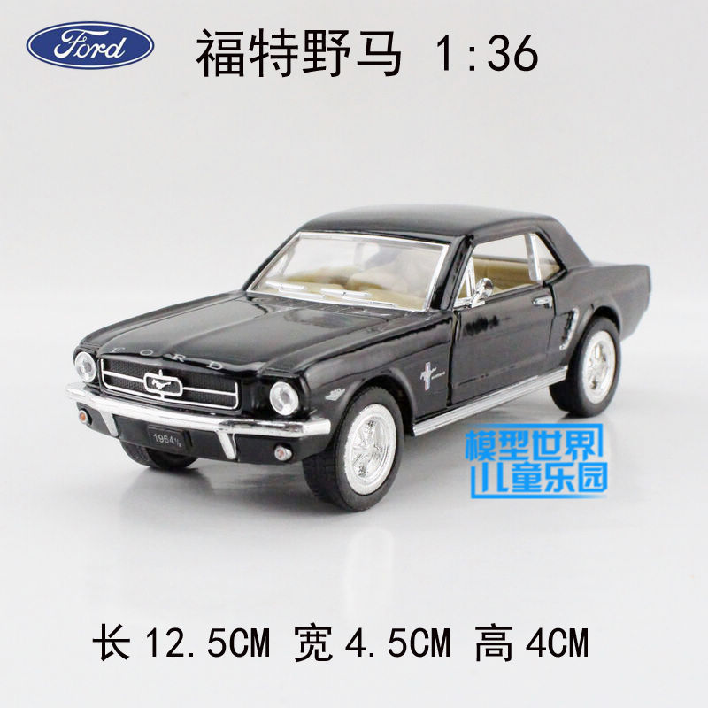 Wholesale 10pcs/lot Brand New KINGSMART 1/36 Scale Pull Back Car Toys 1964 Ford Mustang Diecast Metal Car Model Toy(China (Mainland))